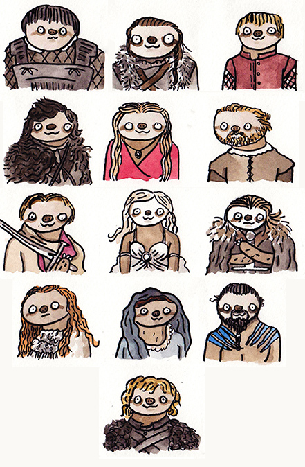 game of thrones sloths