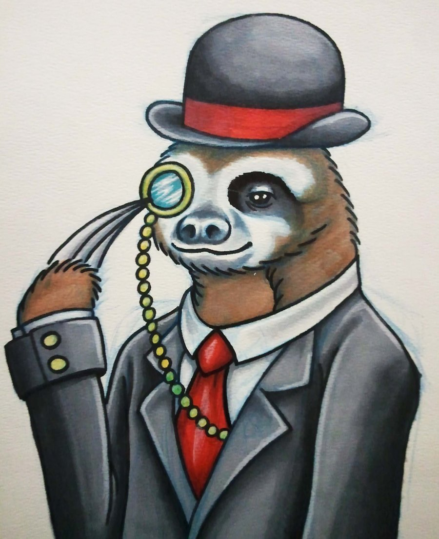 fancy_sloth_by_williamferkey-d5nufoo