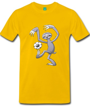 sloth soccer shirt
